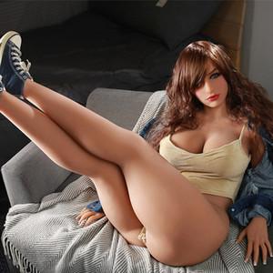 163CM Chubby Sex Doll avec CE ROHS Personnaliser Complet Silicone TPE Sex Dolls Gros Gros Seins et le Cul Plus Posture Grossistes En Ligne