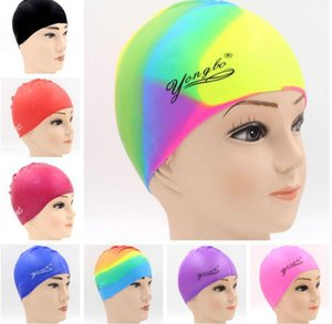 New Colored Swimming Caps For Men's Ladies Increased The Volume Of Silicone Hats At A Large Discount Wholesale