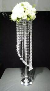 décoration centre de la table principale partie de la décoration en cristal spirale pièce maîtresse candélabre de mariage / stand / D25 élevé 70 cm