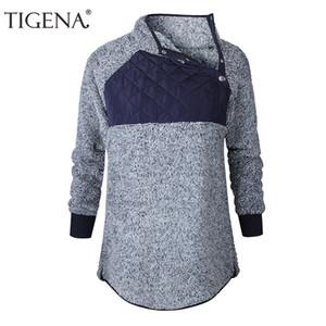 TIGENA la camiseta del terciopelo Mujeres 2018 informal de manga larga con capucha sudaderas con capucha de las señoras Mujeres top Mujer Sweat Femme Kpop