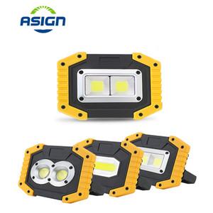 ارتفاع مشرق الصمام الأضواء المحمولة 20W 400LM USB قابلة للشحن مع 18650 بطارية الصمام ضوء الفيضانات في الهواء الطلق مصباح إضاءة التخييم