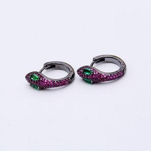 Творческий змея серьги для женщин изысканный забавный животных Циркон уха шпильки мода 925 серебряные серьги женские роскошные ювелирные изделия