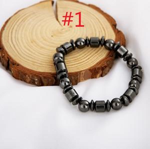 Heißer Verkauf, der Charme-Bracelets Brazil natürliche schwarze Galle faltet Moderner Retro- magnetischer Handschnur Steinmagnettherapie-elastisches Armband