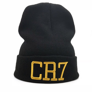 new Hat 1PC Sport Winter CR7 letter Cap Men Hat Beanie Knitted Hiphop Winter Hats For Women Fashion Warm Caps