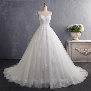 Robe De Mariee Luxury Wedding Dressall Gown Vintage Wedding Dress Sexy Lace Wedding Dress Custom Size and Color LW039