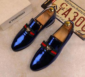 2018 Nuovo stile degli uomini di alta qualità degli uomini di marca in pelle Oxford scarpe moda uomo d'affari scarpe da uomo scarpe da sposa punta appuntita G375