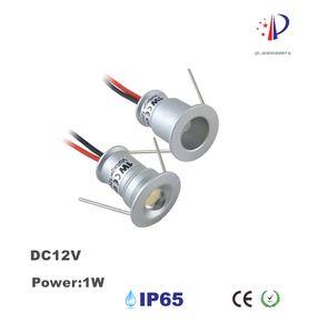 1 W Mini Recesso Holofotes, DC12V LED Luz de Teto, 15mm Recorte 30D / 120D Pequeno Downlight, 18 pcs Gabinete Decoração Luz