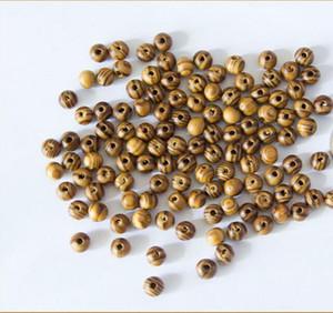100 pcs Brown Wood Spacers Perles en vrac Collier Bracelets Charms Conclusions 8mm