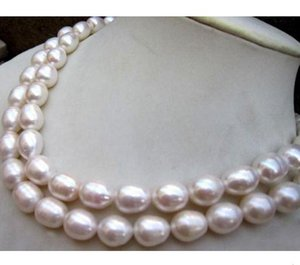 NEW 11-13MM NATURAL WHITE SOUTH SEA BAROQUE PEARL NECKLACE 36 INCH 14K GOLD