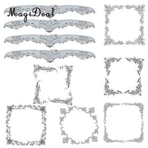 MagiDeal 7 estilos 4 piezas de gran tamaño del marco de fotos marco Espejo Esquina de la foto del regalo -Geart protector para boda de unos amigos