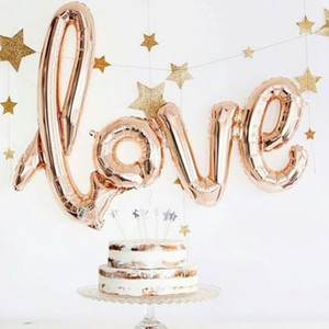 Brief Ballons LIEBE Siamesed Folienballons Hochzeit Dekoration Ballons Romantische Valentinstag Liebesbrief Balls Party Supplies