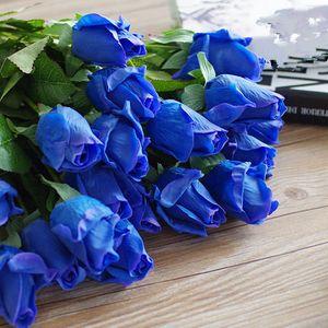 Nuevo diseño Floace (11 unids / lote) Flores artificiales de rosas frescas Flores de rosas de tacto real Decoraciones para el hogar para bodas o cumpleaños