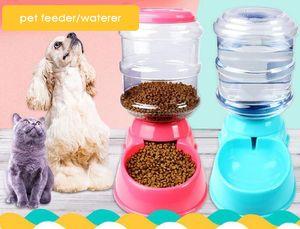 Otomatik Pet Besleyici Köpek Su İçme Için Kase Içme Kedi Besleme Büyük Kapasiteli Dağıtıcı Pet Besleyici ve Waterer