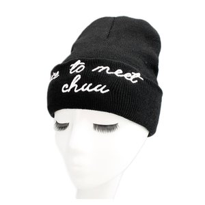 Solid Beanies Cap para Hombres Mujeres Letter Knitted Skullies Couple Hat Agradable para cumplir con un Caps Black Pink Warm Winter Ski Hat MX17272