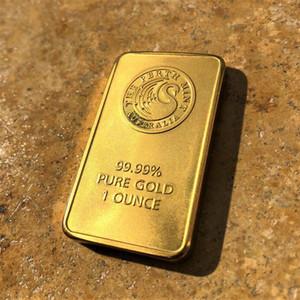 20pcs / lot transporte livre, uma onça extremamente raro Perth Mint - barra de ouro cisne negro dourada 24k