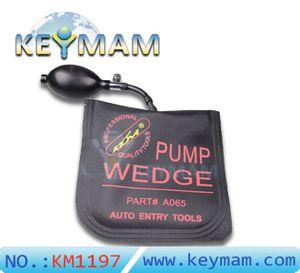 New KLOM BOMBA WEDGE Airbag Ar Wedge-Pump Wedge para destravar a porta do carro, bater ferramenta de cadeado chave, Tamanho Médio com cor preta
