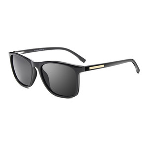 Atacado Moda Quadrado Óculos De Sol Da Marca Designer Homens TR90 Quadro Polarizada Óculos De Sol Do Vintage Óculos de Condução 18019