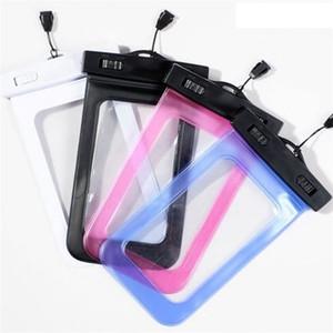 Saco impermeável do mergulho da natação exterior para o telefone móvel Grandes sacos secos transparentes com a tela de toque 2 4gq Ww da corda de suspensão