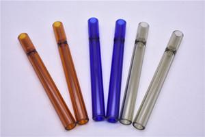 красочные 12 см лаборатории стеклянная трубка табак сигареты летучая мышь один нападающий трубы стекла соломы трубки сигареты фильтр трубы стекла фильтр наконечник для курения