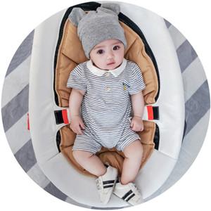 Roupas de bebê verão estilo Europeu macacão de bebê terno de escalada de manga curta nfant abacaxi macacão de impressão recém-nascidos macacões listrados