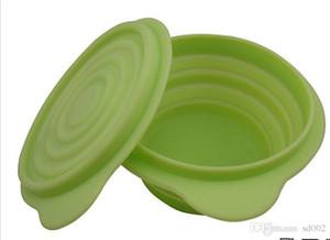 Boîte à lunch en silicone portable résistant à la corrosion avec couvercle couvercle rond en gel de silice Coffre facile à transporter boîte à lunch résistant à la chaleur 15qh Y
