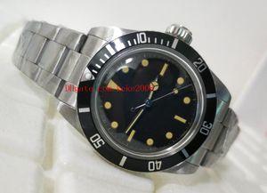 패션 우수한 손목 시계 빈티지 40mm 5513 블랙 맥시 다이얼 스테인레스 스틸 아시아 2813 운동 기계 자동 시계 시계