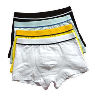 4 PC / 로트 Organic Cotton Kids Boys Underwear Pure Colour Babys 반바지 팬티 소년 복서 아동 Teenager Underwear 3-12 Years