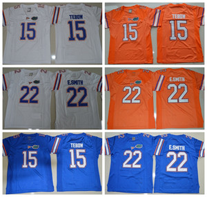 Винтаж Флорида Gators College Футбольные Майки Дешевые 22 E. Smith Emmitt Smith 15 Tim Tebow Сшитые Футбольные Рубашки