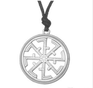 Paganisme slave Kolovrat Pendentif slave Bijouterie Power Solstice Collier RopeLink Symbole Talisman