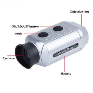 7X Dijital Optik Teleskobu Lazer El Monoküler uzaklık ölçer Golf Mesafe Bulucu Kapsam Yard Mesafe Ölçer Rangefinder ölçün