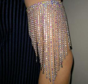danza del ventre braccialetto braccio strass colorati AB