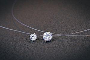 ¡Nuevo! Gargantilla de Plata Esterlina 925 Collar Invisible de Pescado Colgante de Collar de Cristal Cuello Zircon Mujeres Cadena de Clavícula Señora Collar Feminino N40
