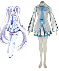 Vocaloid Family Cosplay Costume Hatsune Miku Uniform 7Pcs Set