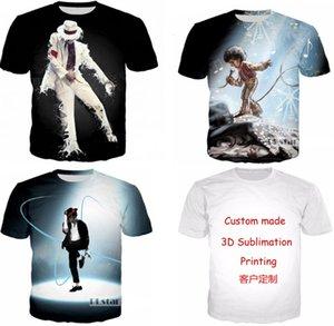 Yeni Moda Çiftler Erkek Kadın Unisex Michael Jackson Komik 3D Baskı Hiçbir Kap Rahat T-Shirt Tee Üst Toptan T169