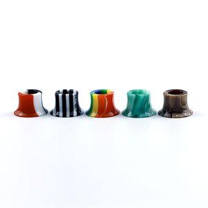 Colorful Rainbow Mini Super Tank Epoxy Resin Drip Tips Mouthpiece For Tobeco MINI SUPERTANK Drip Tip Wide Bore