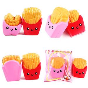 Kawaii Jumbo rosa vermelho Batatas Fritas Squishy Lento Rising Squishies Suave Scented Pão Bolo charme Esticar Kid Toy presente com pacote de varejo