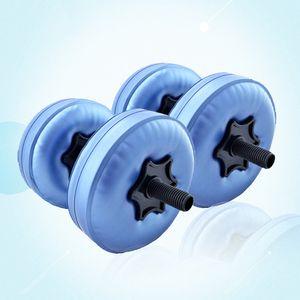 2 pcs 5-10 kg réglable Haltères Irrigation Eau Rempli D'eau Haltère Poids Portable Yoga Fitness Entraînement Workout