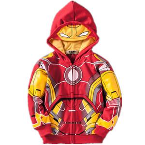 Avengers Vestes Manteaux Garçons Iron Man Thor Hulk Homme Araignée Costume Vêtements Bébé Garçon Vestes Enfants Sweat À Capuche Enfant Top T-shirts