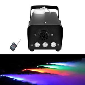 Envío gratuito Mini 500 W LED RGB Control remoto inalámbrico máquina de humo bomba dj disco máquina de humo para la boda de la fiesta de Navidad etapa LED fogger