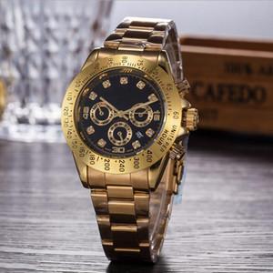 Горячие часы светодиодные часы мужские бизнес нержавеющая сталь металлический пояс Рим циферблат золотые часы мода женские высококачественные кварцевые часы