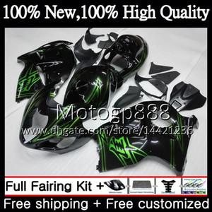 Cuerpo Verde negro Para SUZUKI Hayabusa GSXR1300 96 07 GSXR-1300 56PG05 GSX R1300 2002 2003 2004 GSXR 1300 2005 2006 2007 Fairing Bodywork