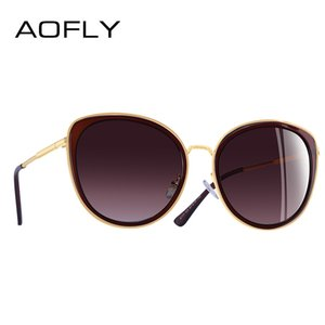 AOFLY BRAND DESIGN 2018 New Fashion Cat Eye Occhiali da sole lenti sfumate occhiali da sole polarizzati Occhiali UV400 A111