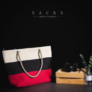 Waterproof Rubber Thick Shopping Portable Burlap Gift Shoulder Female Pure Asian Cotton Linen Portable Practical Tote Bag