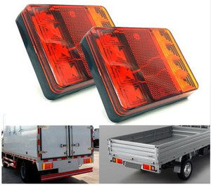 Car Truck LED Rear Tail Light Warning Lights Rear Lamps Waterproof Tailight Parts for Trailer Caravans DC 12V
