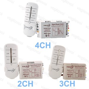 Switch 220V 2CH 3CH 4CH Way Lighting Accesso ForLED Ceiling Panel Lamps Bulbs Digital RF Remote Controller Wireless Transmitter Plastic DHL