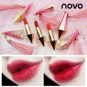 Novo Rhombus Diamond Pintalabios no es fácil de decolorar Colores de pomelo Leche Té Colores Duradero Moisturizing Lip Batom Maquillaje
