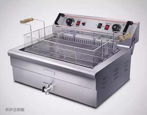 20L Büyük Elektrikli Fritöz Makinası Çin Donut Fryer Chip Fryer Patates Kızartma Makinesi Ticari kfc Tavuk Kızartma Makinesi