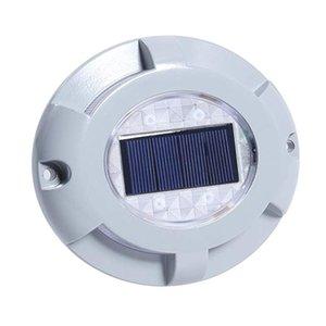 Solar Road Stud Aluminum 4-LED Waterproof Road Light Sensor Road LED Lights For Driveway Garden Square Pathway