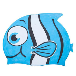 Super cute children's cartoon swimming cap   Fish swim cap   100% silicone swim cap