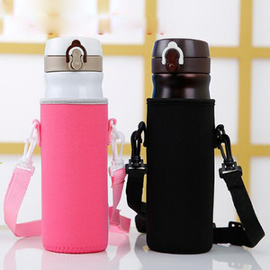 Protable Neoprene Cup Holder Water Bottle Case Cup Cover Bags Holder Carrier With String 100pcs free shipping